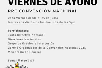 Viernes de Ayuno Pre-Convención